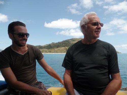 Père et Fils sur le bateau