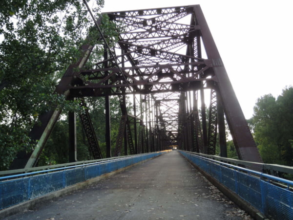 MADISON : Le Chain of Rocks Bridge