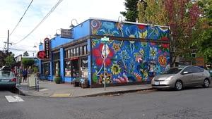 Façade colorée d'Alberta Avenue