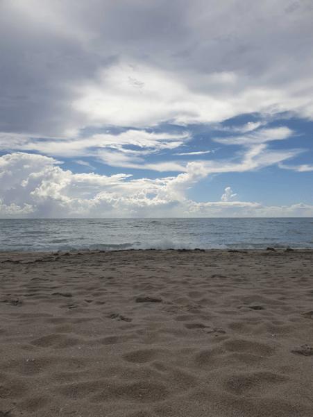"""""""J'ai quand même pu profiter quelques heures des plages de Miami Beach…"""""""