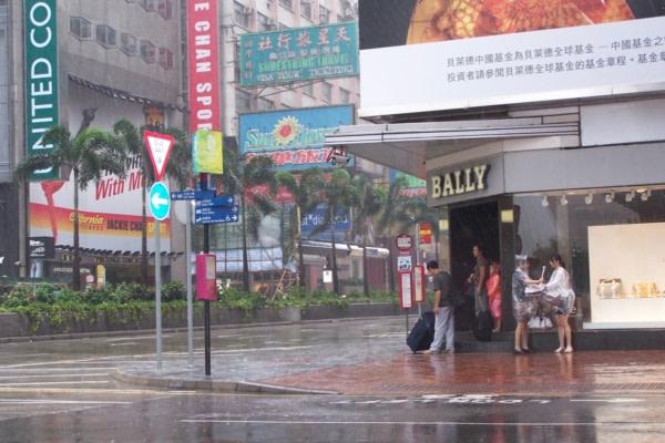 typhon arrive sur Hong-Kong Aout 2008
