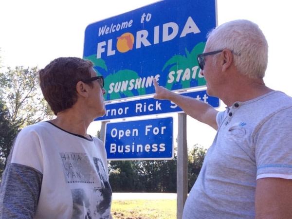 Arrivée en Floride