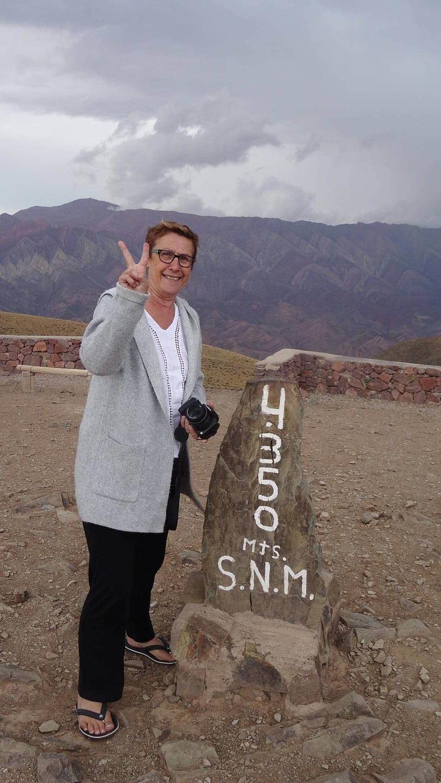 Nous l'avons fait 4350m d'altitude du Cerro de los 14 couleurs.