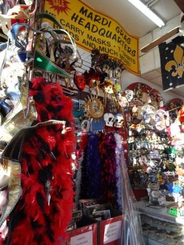 Boutique Mardi Gras à la Nouvelle Orélans