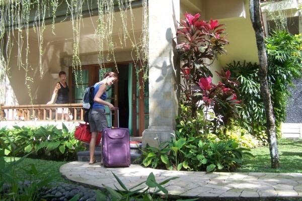 Arrivée à l'hôtel Samita Garden