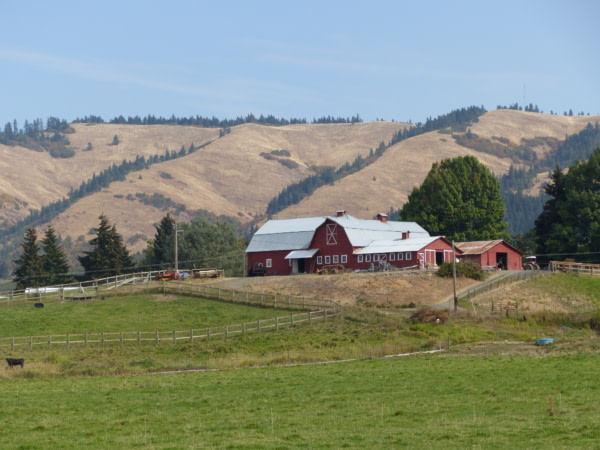 Ferme typique de l'Oregon