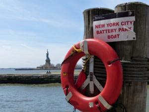 Statue de la Liberté et Ellis Island.