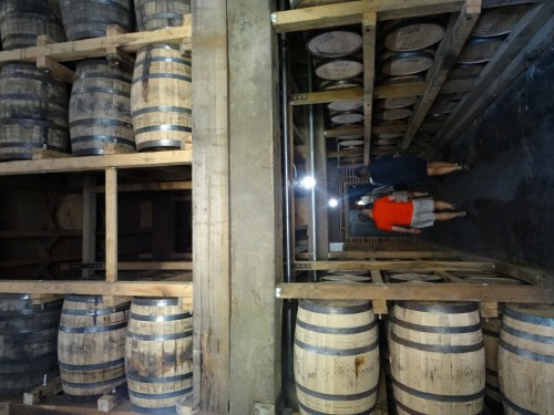 fûts de chêne de la Distillery Jack Daniel's à Lynchhurg tennessee