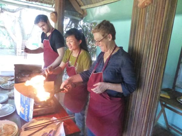 Atelier cuisine à Tra Que