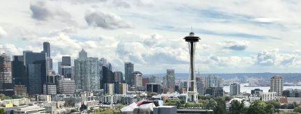 Découvrir Seattle Vue de Seattle volée d'un Jardin pour pas rentrer complètement bredouille.
