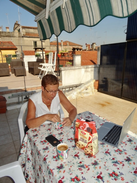 20 juin 2017 Venise petit déjeuner sur la terrasse