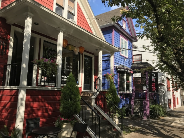 Maisons colorées d'Alberta Street